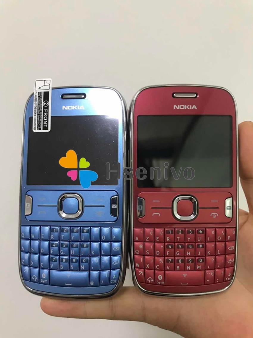 ASHA 302 разблокированный Nokia Asha 302 3g сеть GSM wifi Bluetooth JAVA 3.15MP камера мобильный телефон Восстановленный