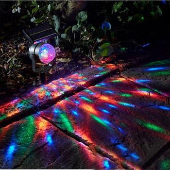 Led Solar Drehen Projektor Rasen Lampe Ip55 Wasserdichte 6 V Boden