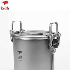 Набор кухонной посуды Keith Titanium, портативная кастрюля для соуса, 900 мл, для кемпинга, пеших прогулок, пикника, приготовления пищи, рисоварка Ti6300, Прямая поставка