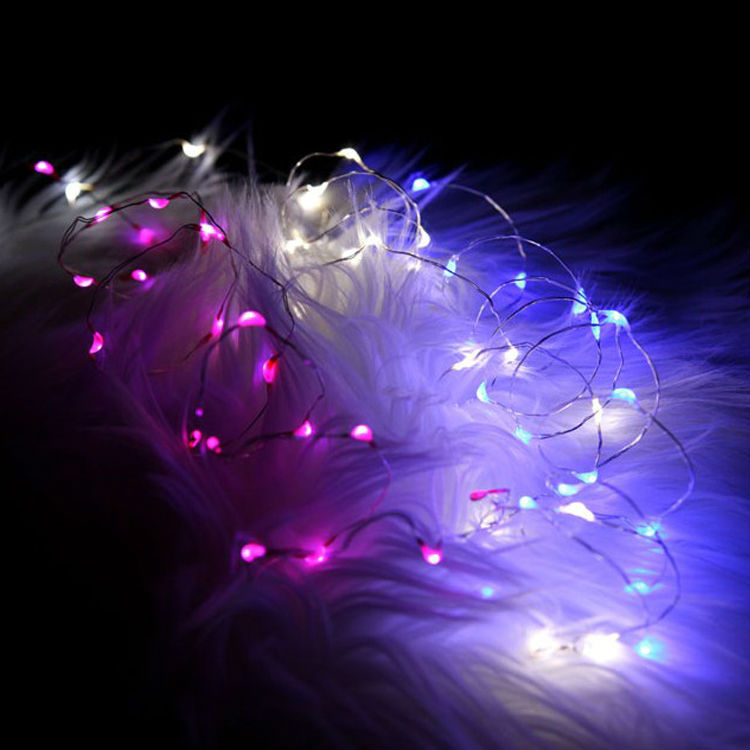 kerst decoratie 2016!CR2032 Battery Operated 2M 20 Micro <font><b>LED</b></font> String Lights Copper Wire forflores artificiais <font><b>atacado</b></font>