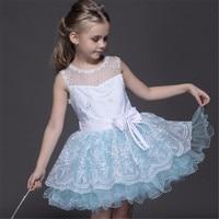 6 Layer Girls Sleeveless Dress Princess Snow White Costume Costume Children Cinderella Blue Vest Dress Fashion Top Quality Cloth