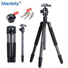 Manbily CZ308 Professional Carbon Fiber Tripod Monopod + Ball Head Travel Tripod For DSLR Camera Stand 68.5″ Max.H 28mm Leg Dia