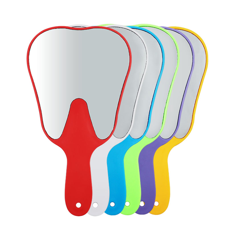 1pc Dental Teeth Shape Model Mirror Tooth Glass Oral Care Hand Use Tools High Quality Gift