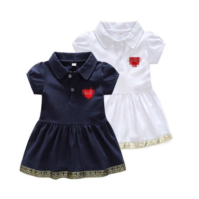 New Kids Baby Girls Dress Sundress Party Casual Short Sleeve Princess Dresses Clothes Cute Fashion Baby Infant Dress 0-2 Years