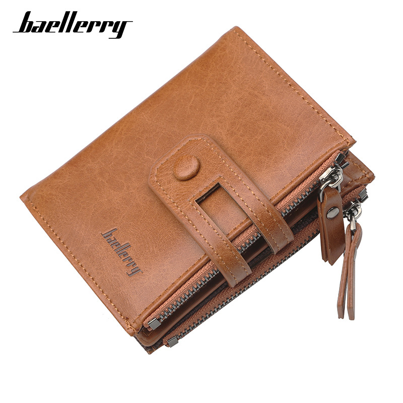 Baellerry Fashion New Mens Classical Vertical Wallet Zipper Hasp Multi-purpose Large-capacity Multi-card Bits Purse Male Wallets
