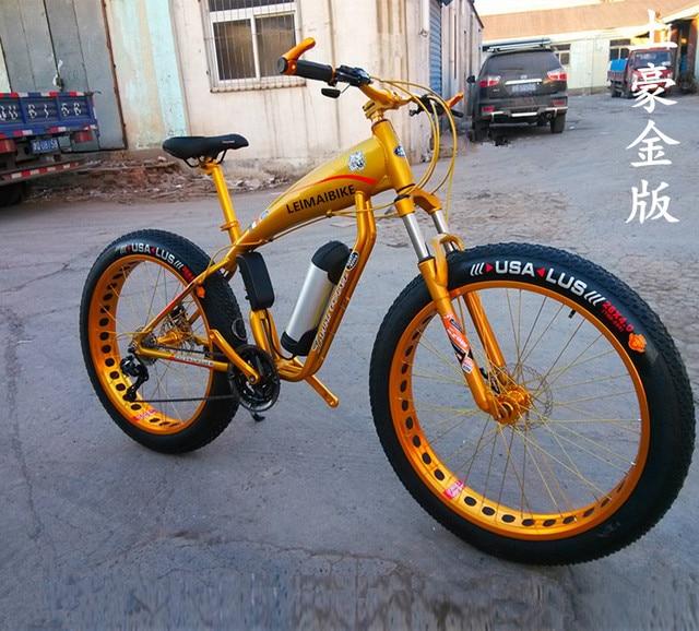 ecdc44aad0e Kalosse aluminum alloy electric beach bicycle M4000 electric snow bike 10A  48V 350W 27 speed mountain bike