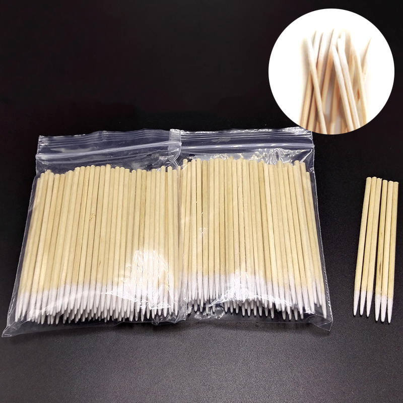 100pcs Wood Cotton Makeup Bud Permanent Makeup Microblading Wood Cotton Swab Cosmetics Stick Suitable For Makeup Beauty Tools