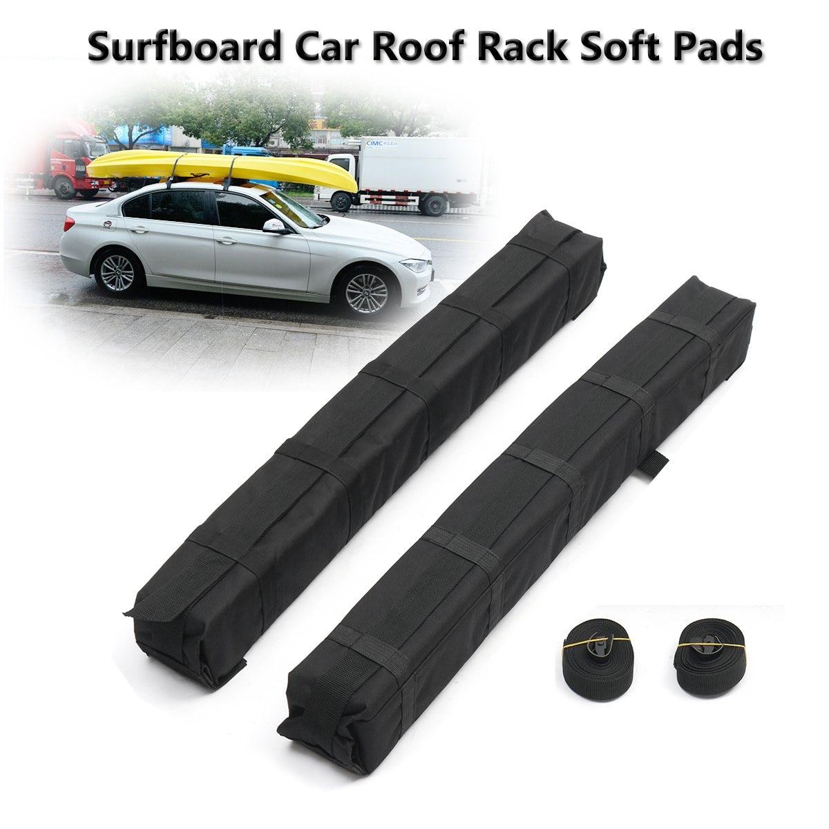 2pcs Universal Auto Soft Car Roof Rack Cross Bar Kayaks
