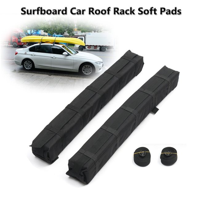 Auzan 2pcs Universal Auto Cross Bar Kayaks Surfboard Car Roof Rack EVA Soft Pads