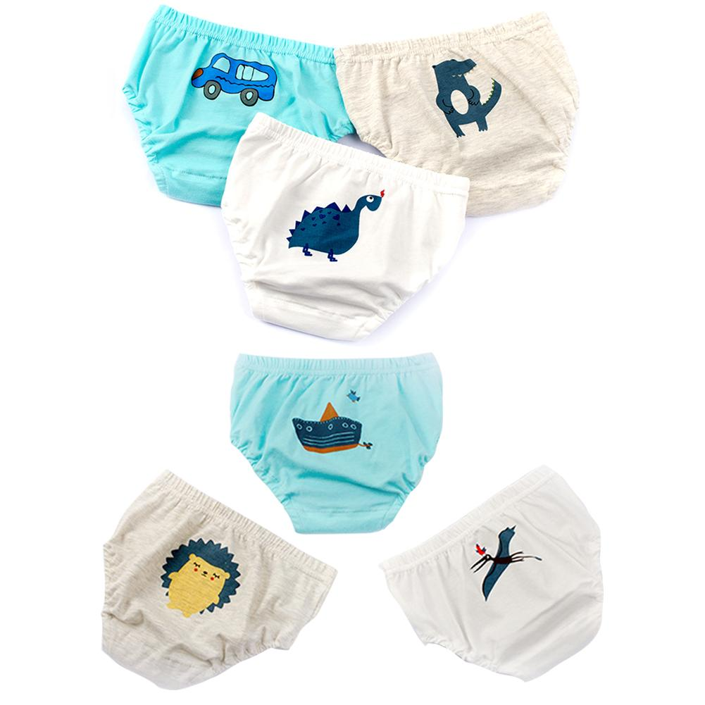 3PCS/lot  Babies Infants Cartoon Printed Cotton Panties Animal Anchor Kids Boy Underwear Underpants Toddler Clothing Brief