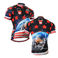2016 Vintage Cycling Jersey Ocean Asian Style Riding Jerseys For Hill Climb Racing Mens Spring And