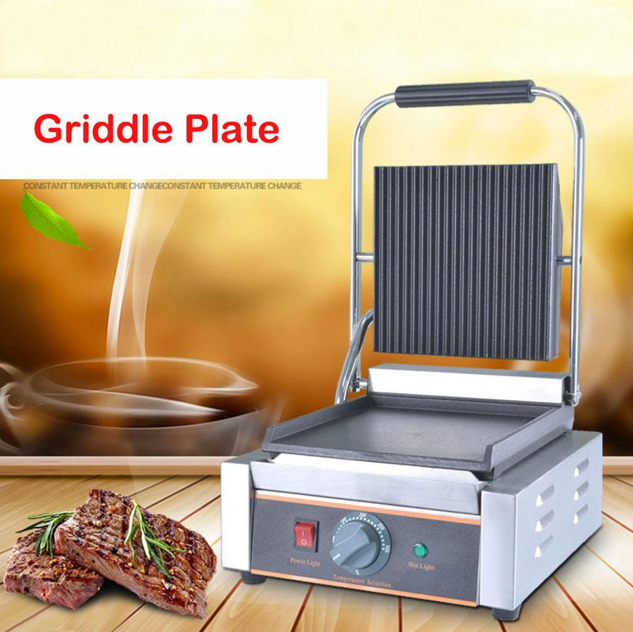 line Shop mercial electric griddle grill 220v single plate
