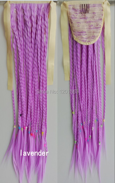 24 inch clip in synthetic plaits ponytail bohemia style hair 24 inch clip in synthetic plaits ponytail bohemia style hair extensions lavender straight 100g braiding hairpieces pmusecretfo Gallery