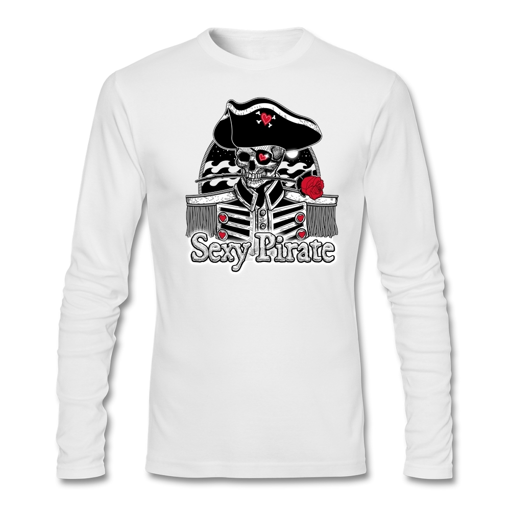 Design your own t shirt las vegas - Mens Business Original Design T Shirt Men A Simply Sexy Pirate Long Sleeved Las Vegas Strip Pirate Show Slim Tees Feminina Shirt