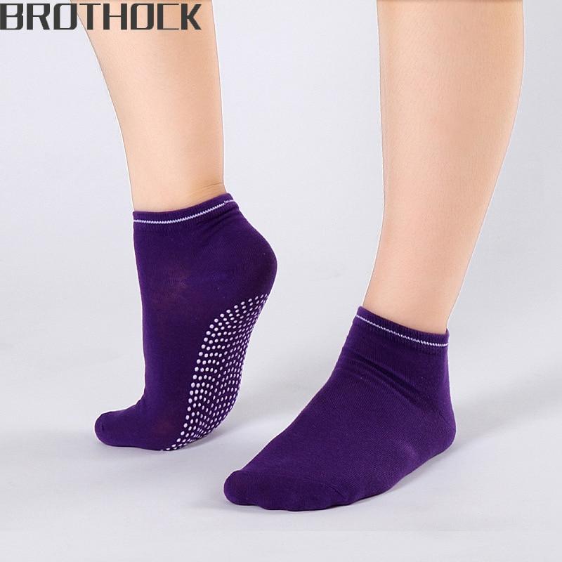Brothock Factory Direct Female Yoga Sports Slip Socks Women Cotton Candy Sport Socks Yoga Socks Quick Dry Summer Slip Boat Socks