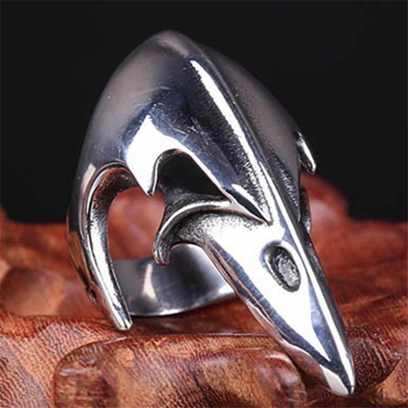 Vintage Punk animale dell'anello del cranio degli uomini dei monili Vikings Timone della Soggezione crow aquila anelli degli uomini