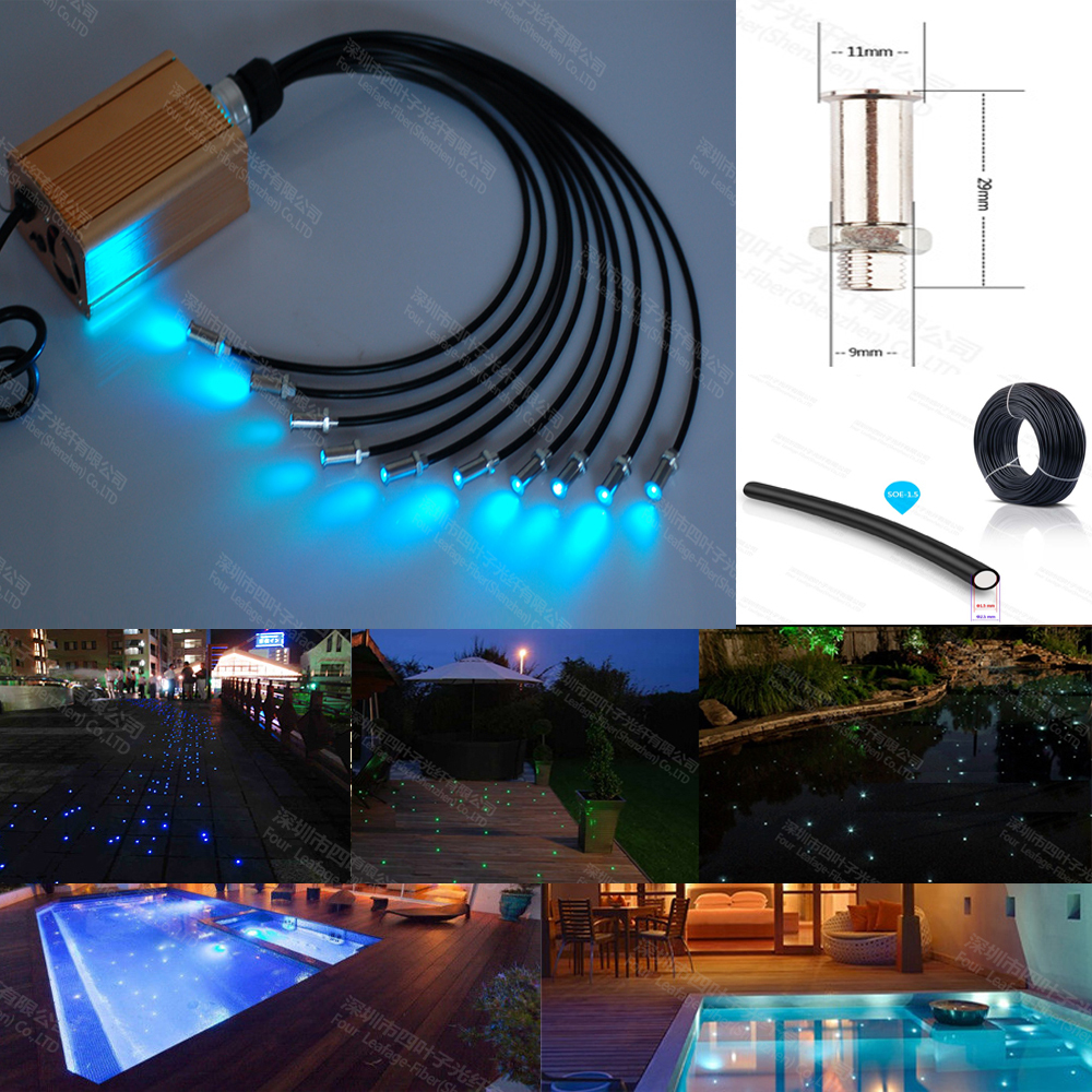 16W Led RGB Underwater Light Waterproof IP68 Fountain Swimming Pool Lamp Colorful Change With 24Key IR Remote 16 colors 12v led waterproof light rgb 10w underwater ip68 spot light lamp pool fountain pool garden remote controller