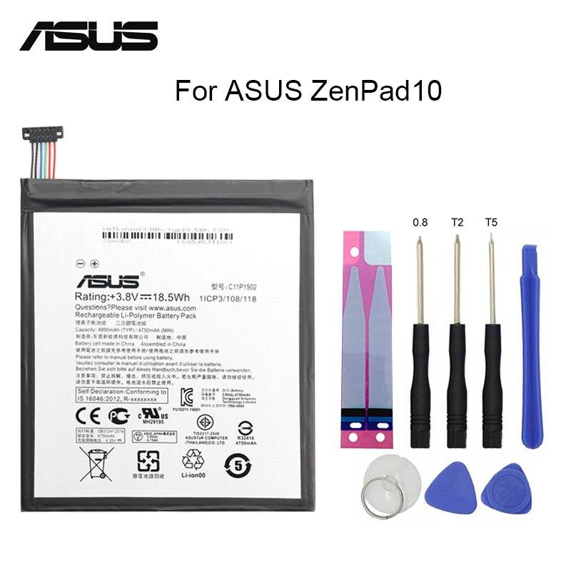 ASUS Original Replacement Phone Battery C11P1502 4890mAh for ASUS ZenPad 10 Z300CG Z300CL P01T Z300M Z300C P023 10.1 Free Tools