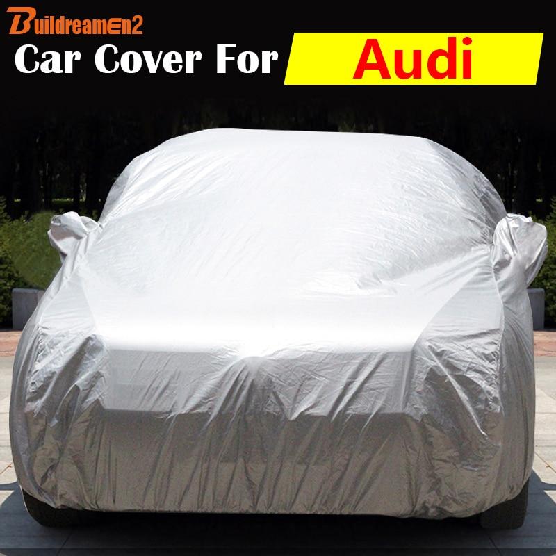 Buildreamen2 Auto Cover Outdoor Sun Anti UV Snow Rain Protector Scratch Resistant Car Cover Dust Proof For Audi Allroad Q3 Q5 Q7