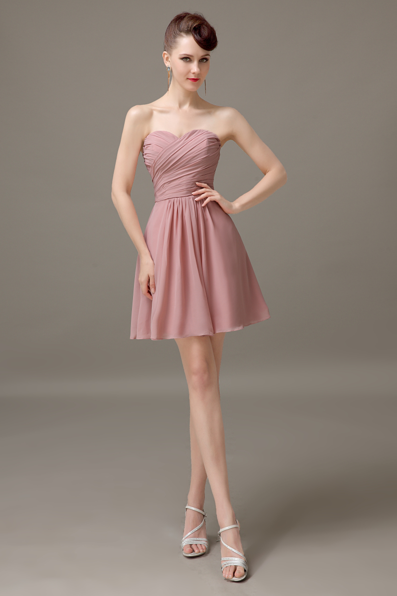 Dusty rose sweetheart chiffon short bridesmaid dress cheap simple dusty rose sweetheart chiffon short bridesmaid dress cheap simple custom bridesmaid dress 2016 plus size hot sell bd446 in bridesmaid dresses from weddings ombrellifo Image collections