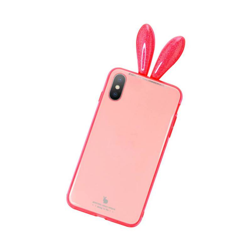 competitive price 5f8b9 61f9f US $3.78 22% OFF|Aliexpress.com : Buy Cute Cartoon Fashion Cover Cute Bunny  Rabbit Ears Tail Phone Back Cover3D Rabbit Ear Phone Case For iPhone ...