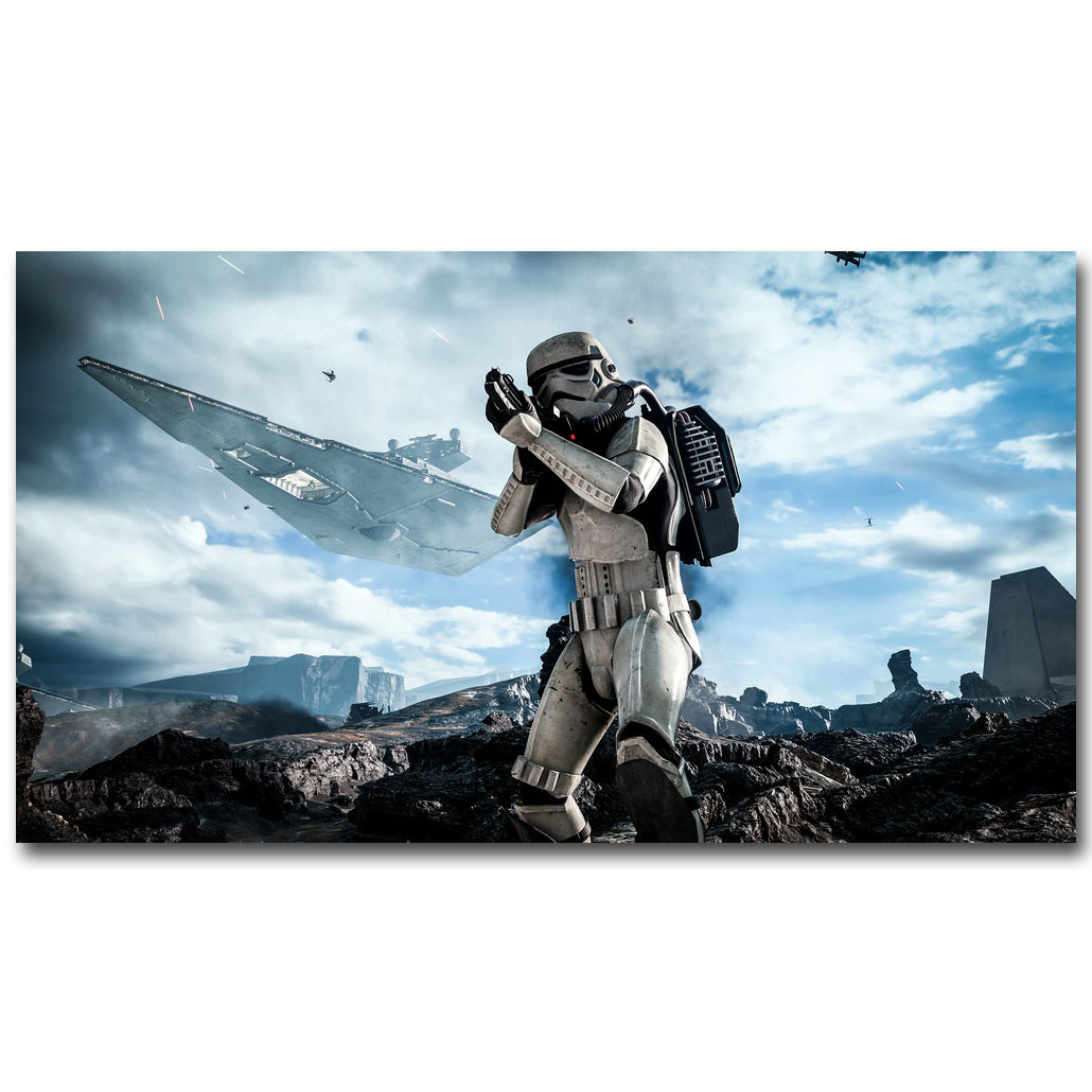 Star Wars Battlefront 2 Art Silk Fabric Poster Print 13x24 24x43 inch Hot Game Picture for Room Wall Decor 0125 image
