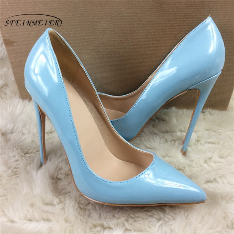 Steinmeier Pumps Women Shoes 12cm 10cm 8cm Slip-On Shallow Wedding Party Pointed Toe High Heels Pump Chaussures Femme shoes floral embroidered heels women pumps solid pointed high heels toe shallow fashion high heels 10cm shoes women wedding shoes