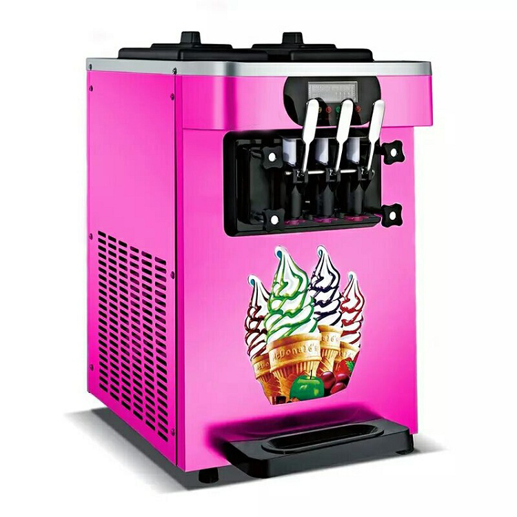 Commercial desktop soft ice cream machine sweet cone ice cream machine 18L / h ice cream maker 1600W free shipping to doorCommercial desktop soft ice cream machine sweet cone ice cream machine 18L / h ice cream maker 1600W free shipping to door