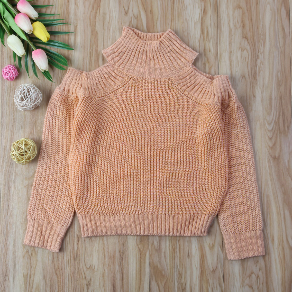 Clothing Sweater Knitwear Long-Sleeve Tops Off-Shoulder