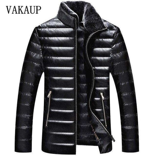 2016 Homens Da Marca de Inverno Para Baixo Capuz de Pele Jaqueta Com Cashmere Mais tamanho XXXXL Jaqueta de Inverno Revestimento Dos Homens de Moda de Alta Qualidade Venda Quente