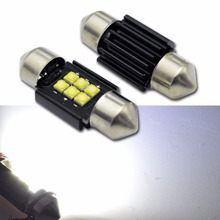4PCS AC12-24V Super Bright Festoon CANBUS 31/36/39/41mm C5W ERROR FREE XBD 6 LED SMD Interior White Dome Light Source Roof Bulbs