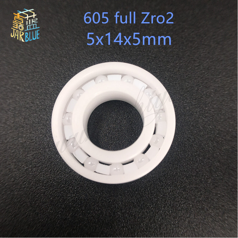 Free shipping 605 full ZrO2 ceramic deep groove ball bearing 5x14x5mm good quality P5 ABEC5