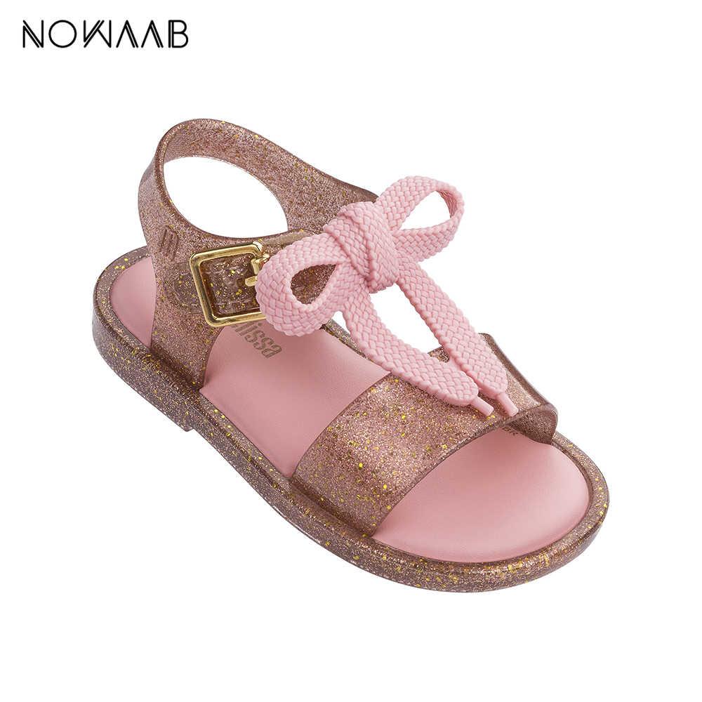 dc2204a8f Мини-Melissa/детские обувь 2019 новые летние мальчики девочки пластиковые  туфли для девочек Нескользящие
