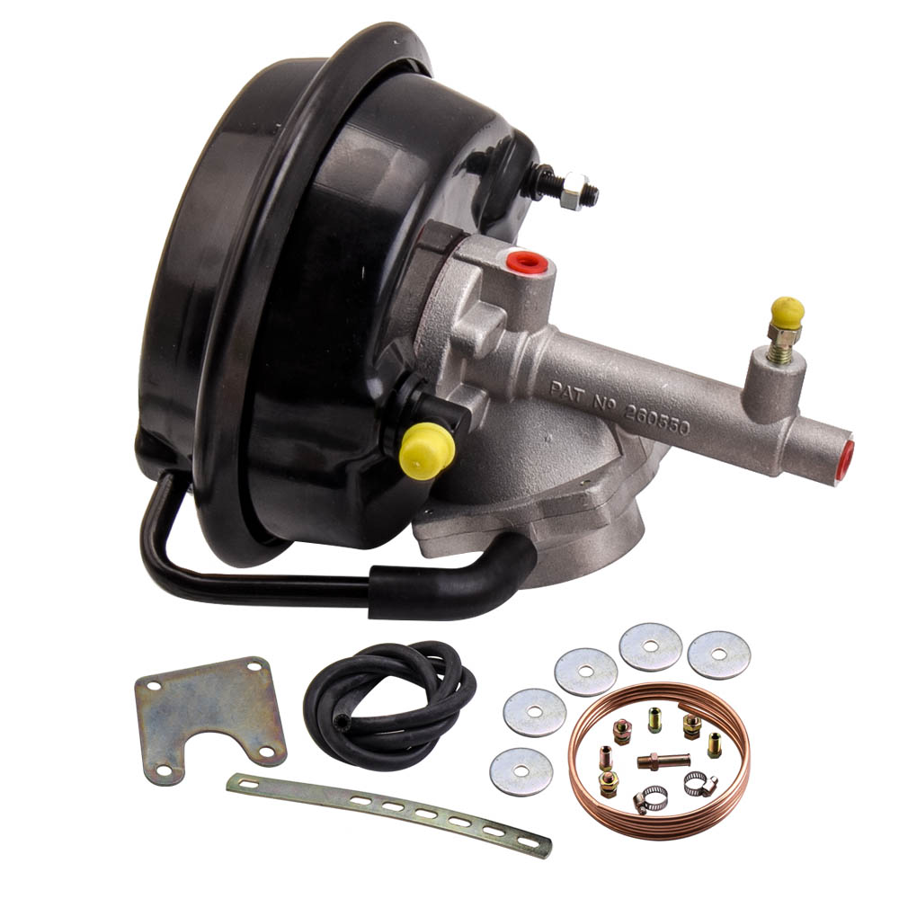 VH44 Remote Brake Booster & Bracket Mounting Kit for Ford Fairlane, Falcon XP,XR,XT (with drum Brakes) for Datsun Nissan Dodge