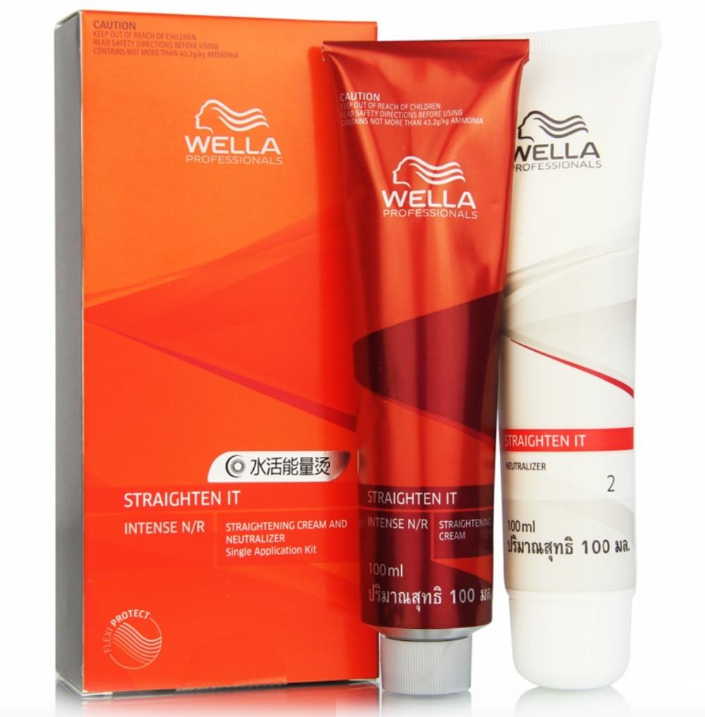 100ml+100ml 2pcs/lot Keratin straightening hair treatment Straight hair cream diy hair special effect hair relaxer Free Shipping
