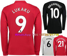 a59f6c37c 17 18 Long sleeves Man Utd soccer jerseys 2017 2018 POGBA Ibrahimovic  LINDELOF RASHFORD MKHITARYAN LUKAKU MEMPHIS MATA jersey un
