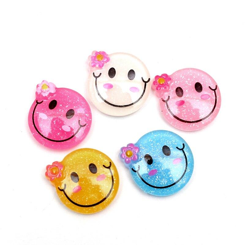20 штук Смешанная улыбка украшения из полимерной глины Flatback кабошон украшения для Скрапбукинг бисер Diy аксессуары