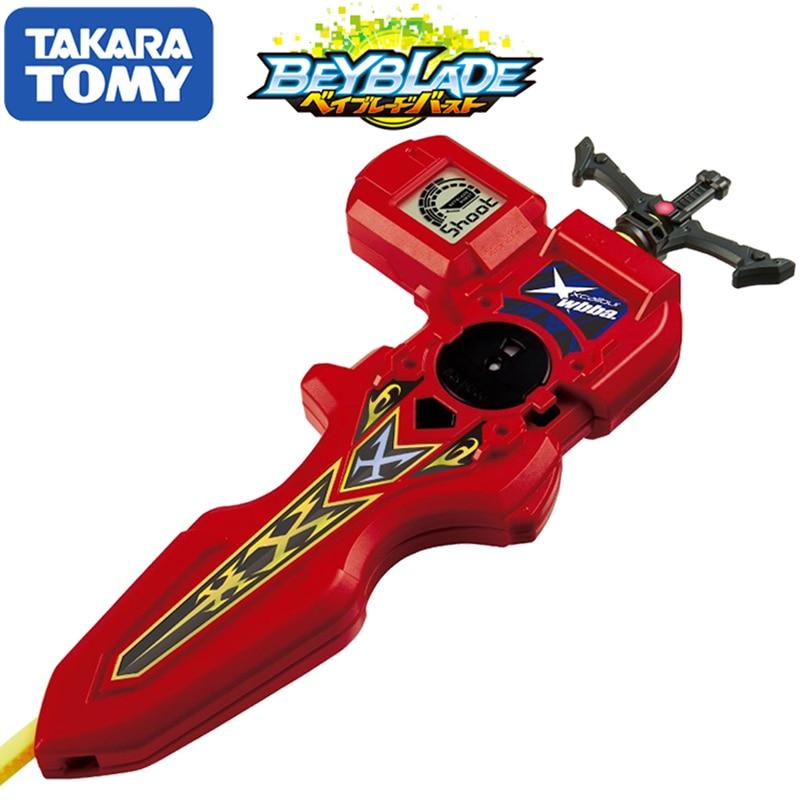 Original TOMY Beyblade estalló lanzador B-94 DIGITAL espada lanzador rojo derecha izquierda rotación doble bey blade juguete para los niños - 2