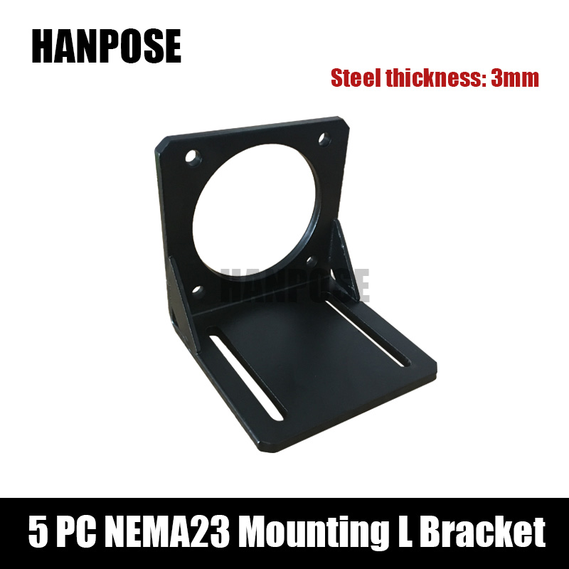 Free shipping 5pcs Nema 23 Stepper Motor mounting bracket New spot 57 stepper motor mounting bracket mount 57 motor aluminium alloy mounting bracket for nema 17 stepper motor geared stepper motor