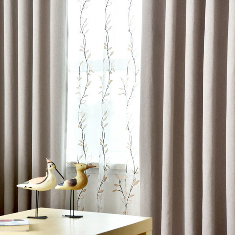 Full Range Of Specifications And Sizes Solid Color Linen Shade Blackout Curtains For Living Room Window Tulle Curtain Kitchen Blinds Drapes Fabric Cortina Custom Made Famous For High Quality Raw Materials And Great Variety Of Designs And Colors