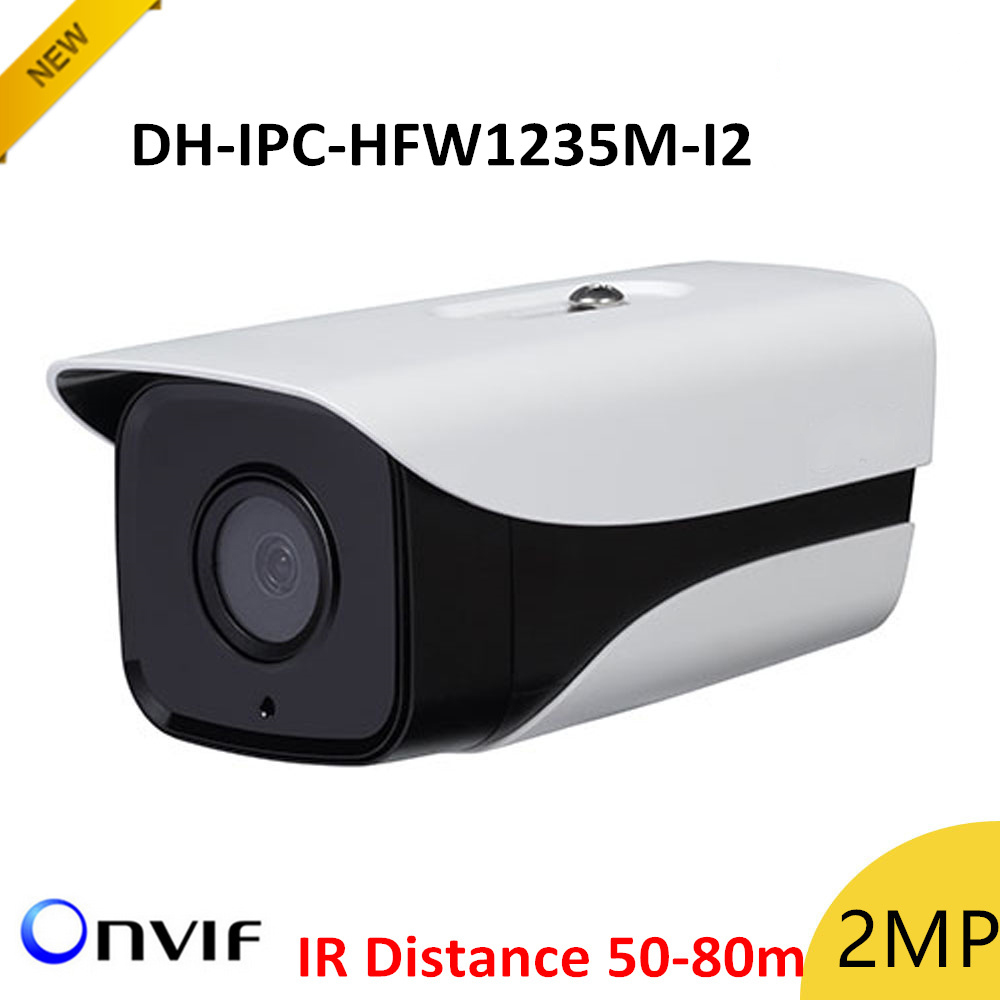 New DH IPC-HFW1235M-I2 2mp IP Bullet Camera IR disstance 50-80m H.265 Outdoor camera IP67 Survillance camera ip cam аксессуар dvtech cb 305 hdmi minihdmi v1 3 1 5m
