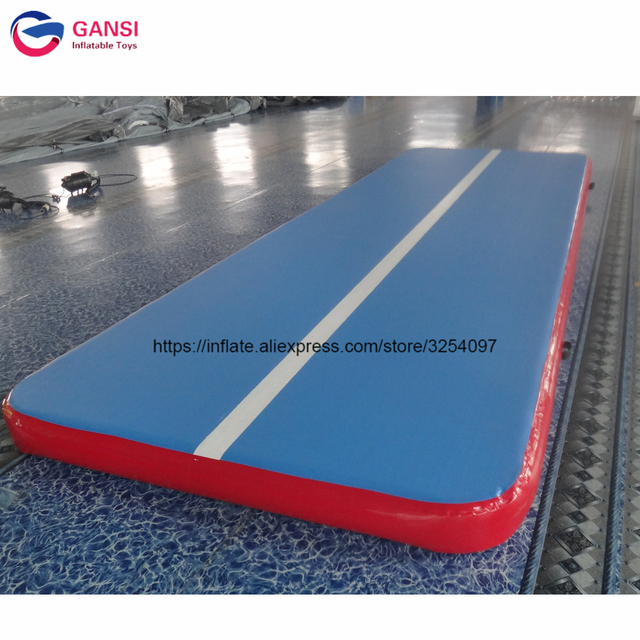 Fast Delivery Inflatable Bouncing Gym Mattress 5m Length Air Track Mat For Trampoline