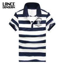 Men Classic Striped Polo Shirt Cotton Short Sleeve NEW Arrived 2019 summer Plus size M-XXXXL(China)