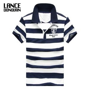 Men Classic Striped Polo Shirt