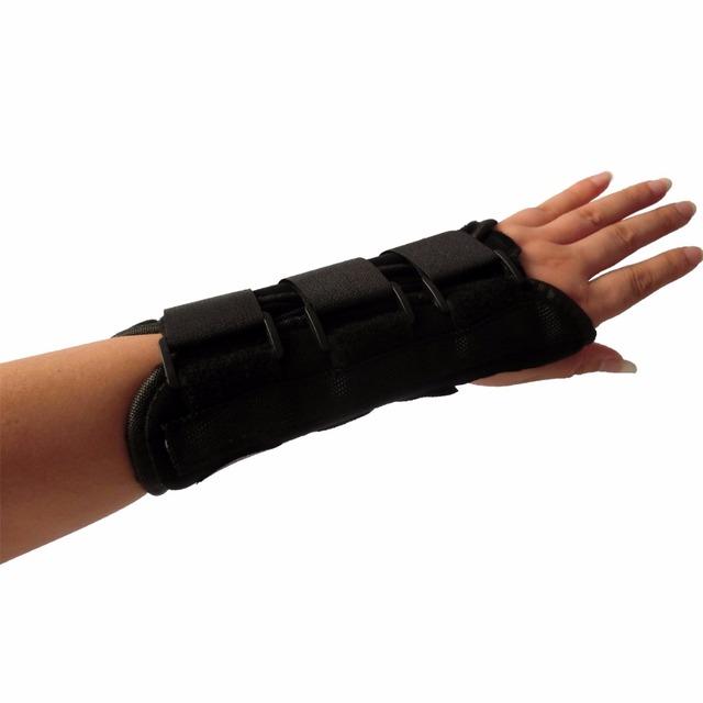 Fixação da fratura da articulação do pulso com osso ulnar fraturas pós-operatório wrist brace tala de proteção respirável