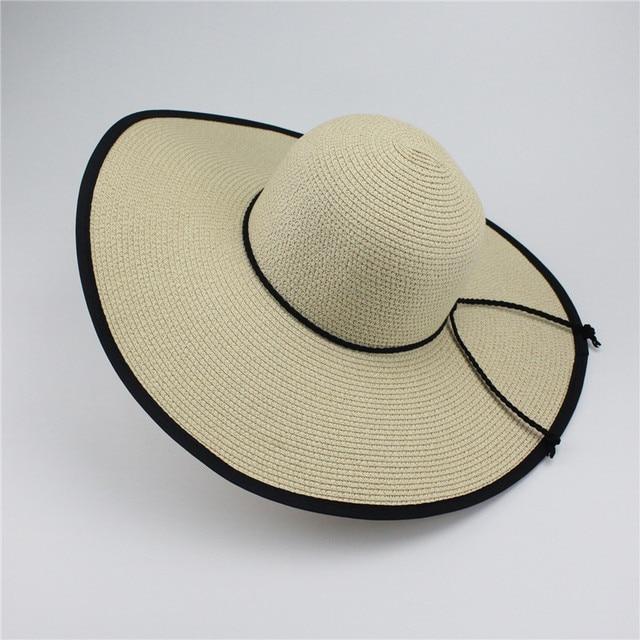 87d47bf756d Woman Summer Hat Wide Brim Wide Large Brim Sun Hats Beach Floppy Caps Straw  Hat For Women