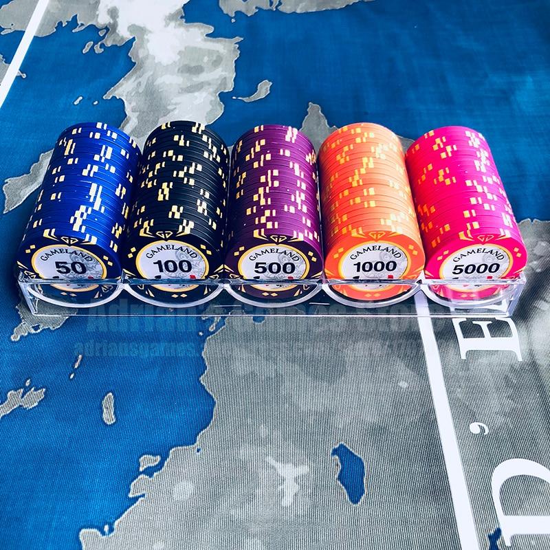 100pcs Diamond Poker Chips Set Professional Casino Token ...