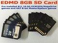 8GB SDCard for EDMD Game Cartridge, Pre-installed 811 16-bit GENESIS/MegaDrive games and 447 8-bit MasterSystem games