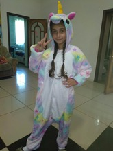 Boys Girls Flannel Star Unicorn Pajamas Kigurumi Overalls Jumpsuit Kids Children Giraffe Panda Cosplay Costume Blanket Sleepers