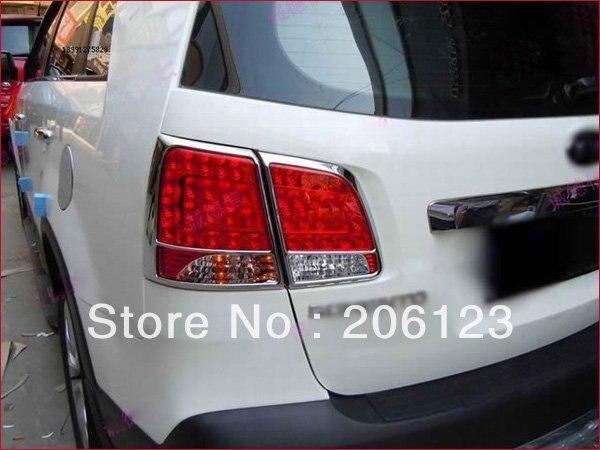 Free shipping Chrome Tail font b light b font cover Trims For Kia Sorento 2010 2011